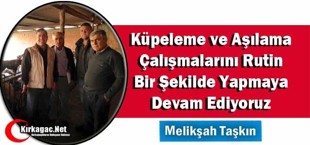 TAŞKIN 'KÜPELEME ve AŞILAMA ÇALIŞMALARINA DEVAM EDİYORUZ'