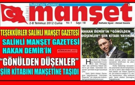 TEŞEKKÜRLER SALİHLİ MANŞET