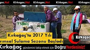 2017 YILI TARIMSAL SULAMA SEZONU BAŞLADI