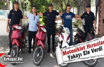 MOTOSİKLET HIRSIZLARI YAKAYI ELE VERDİ