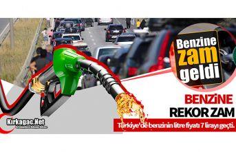 BENZİN 7 TL'Yİ GEÇTİ