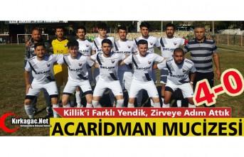 ACAR, KİLLİK'İ DÖRTLEDİ, ZİRVEYE ADIM ATTI 4-0