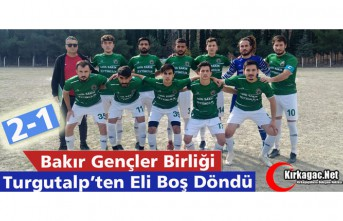 BAKIR G.B, TURGUTALP'TEN ELİ BOŞ DÖNDÜ 2-1