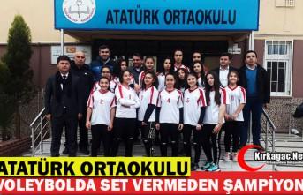 ATATÜRK ORTAOKULU SET VERMEDEN ŞAMPİYON