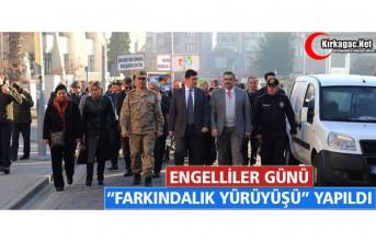"""ENGELLİLER GÜNÜ """"FARKINDALIK YÜRÜYÜŞÜ""""..."""