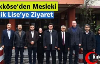 BÜYÜKKÖSE'DEN MESLEKİ TEKNİK ANADOLU LİSESİNE...