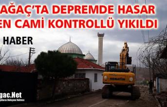 KARAKURT'TA HASAR GÖREN CAMİ KONTROLLÜ YIKILDI(VİDEO)