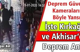 KIRKAĞAÇ ve AKHİSAR'DA DEPREM KAMERALARA BÖYLE...