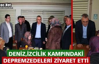 VALİ DENİZ, İZCİLİK KAMPINDAKİ DEPREMZEDELERİ...