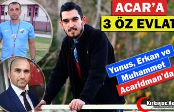 YUNUS, ERKAN ve MUHAMMET ACARİDMANSPOR'DA
