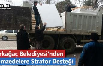 BELEDİYE'DEN DEPREMZEDELERE STRAFOR DESTEĞİ