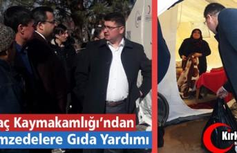 KIRKAĞAÇ KAYMAKAMLIĞI'NDAN DEPREMZELERE GIDA...