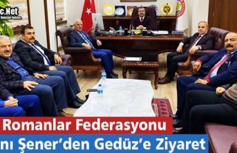 ROMANLAR FEDERASYON BAŞKANI ŞENER'DEN GEDÜZ'E...