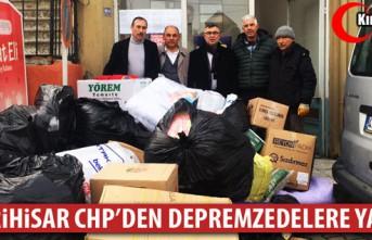 SEFERİHİSARLI CHP'LİLERDEN DEPREMZEDELERE YARDIM