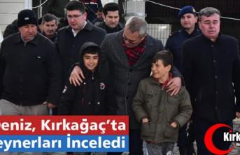 VALİ DENİZ, KIRKAĞAÇ'TA KONTEYNER EVLERİ...