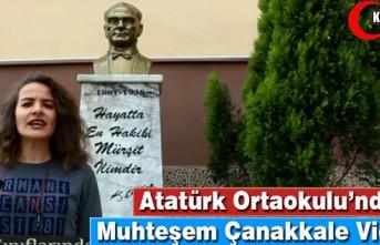 """ATATÜRK ORTAOKULU'NDAN MUHTEŞEM """"ÇANAKKALE""""..."""
