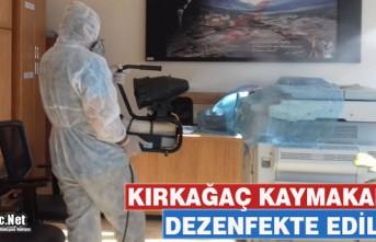 KAYMAKAMLIK BİNASI KORONAVİRÜS NEDENİYLE DEZENFEKTE...
