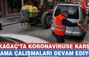 KIRKAĞAÇ'TA KORONAVİRÜSE KARŞI İLAÇLAMALAR...