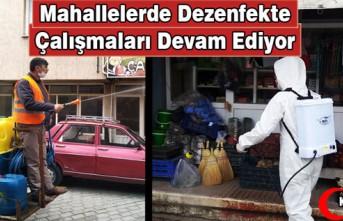 MAHALLELERDE DEZENFEKTE ÇALIŞMALARI DEVAM EDİYOR