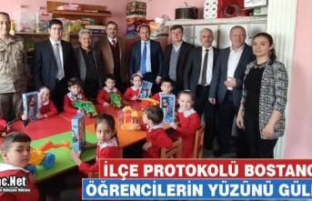 PROTOKOL BOSTANCI'DA ÖĞRENCİLERİN YÜZÜNÜ...