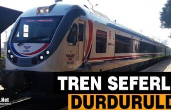 TREN SEFERLERİ DURDURULDU