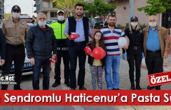 DOWN SENDROMLU HATİCENUR'A PASTA SÜRPRİZİ(ÖZEL...