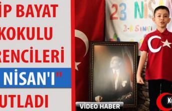 """EDİP BAYAT İLKOKULU ÖĞRENCİLERİ """"23 NİSAN'I""""..."""