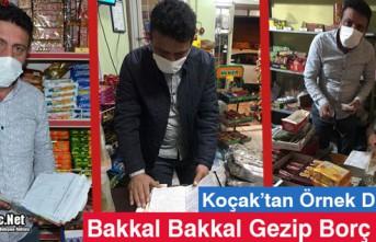 "KOÇAK ""BAKKAL BAKKAL GEZİP"" BORÇ ÖDEDİ"