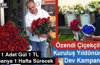 ÖZENDİ ÇİÇEKÇİLİK'TEN YILDÖNÜMÜNDE...