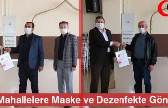 UZAK MAHALLELERE MASKE ve DEZENFEKTE GÖNDERİLDİ