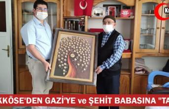 """BÜYÜKKÖSE'DEN GAZİ'YE ve ŞEHİT BABASINA """"TABLO"""""""