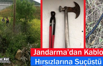 KIRKAĞAÇ'TA JANDARMA'DAN KABLO HIRSIZLARINA...
