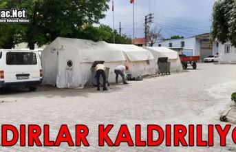 DEPREMDE KURULAN ÇADIRLAR KALDIRILIYOR
