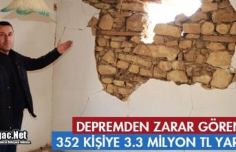 """DEPREMDE ZARAR GÖREN VATANDAŞLARA """"MADDİ YARDIMLARA""""..."""
