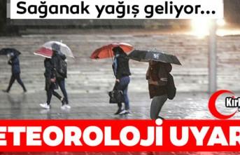 """METEOROLOJİ'DEN """"KUVVETLİ YAĞIŞ""""..."""
