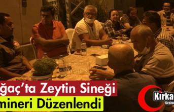 KIRKAĞAÇ'TA ZEYTİN SİNEĞİ SEMİNERİ İLGİ...