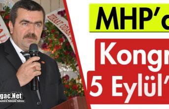 MHP'DE KONGRE 5 EYLÜL'DE