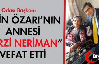 """EMİN ÖZARI'NIN ANNESİ """"TERZİ NERİMAN""""..."""