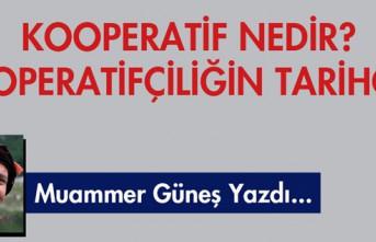 """M.GÜNEŞ YAZDI """"KOOPERATİF NEDİR? KOOPERATİFÇİLİĞİN..."""