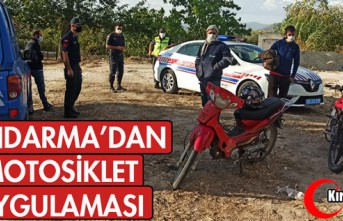 JANDARMA'DAN MOTOSİKLET UYGULAMASI