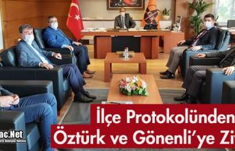 İLÇE PROTOKOLÜNDEN ÖZTÜRK ve GÖNENLİ'YE...