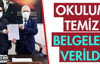 """7 OKULA """"OKULUM TEMİZ"""" BELGESİ"""
