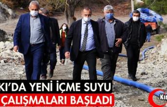 ALİFAKI'DA YENİ İÇME SUYU HATTI ÇALIŞMALARI...