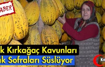 YAZLIK KIRKAĞAÇ KAVUNLARI KIŞ SOFRALARINI SÜSLÜYOR(ÖZEL...