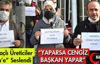 """KIRKAĞAÇLI ÜRETİCİLER """"CENGİZ ERGÜN'E""""..."""