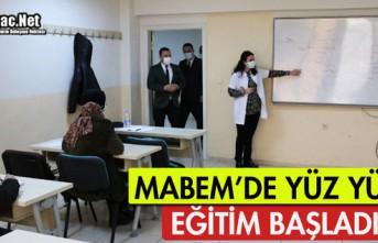 MABEM'DE YÜZ YÜZE EĞİTİM BAŞLADI