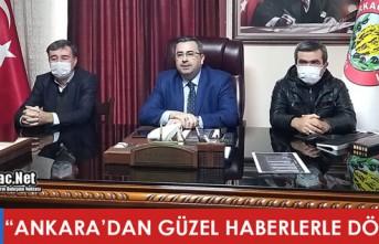 """GEDÜZ """"ANKARA'DAN GÜZEL HABERLERLE DÖNDÜK"""""""