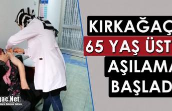 KIRKAĞAÇ'TA 65 YAŞ ÜZERİ VATANDAŞLARIN...