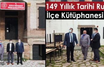 KIRKAĞAÇ'TA 149 YILLIK TARİHİ EV KÜTÜPHANE...