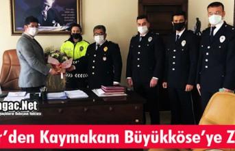 DEMİR'DEN KAYMAKAM BÜYÜKKÖSE'YE ZİYARET